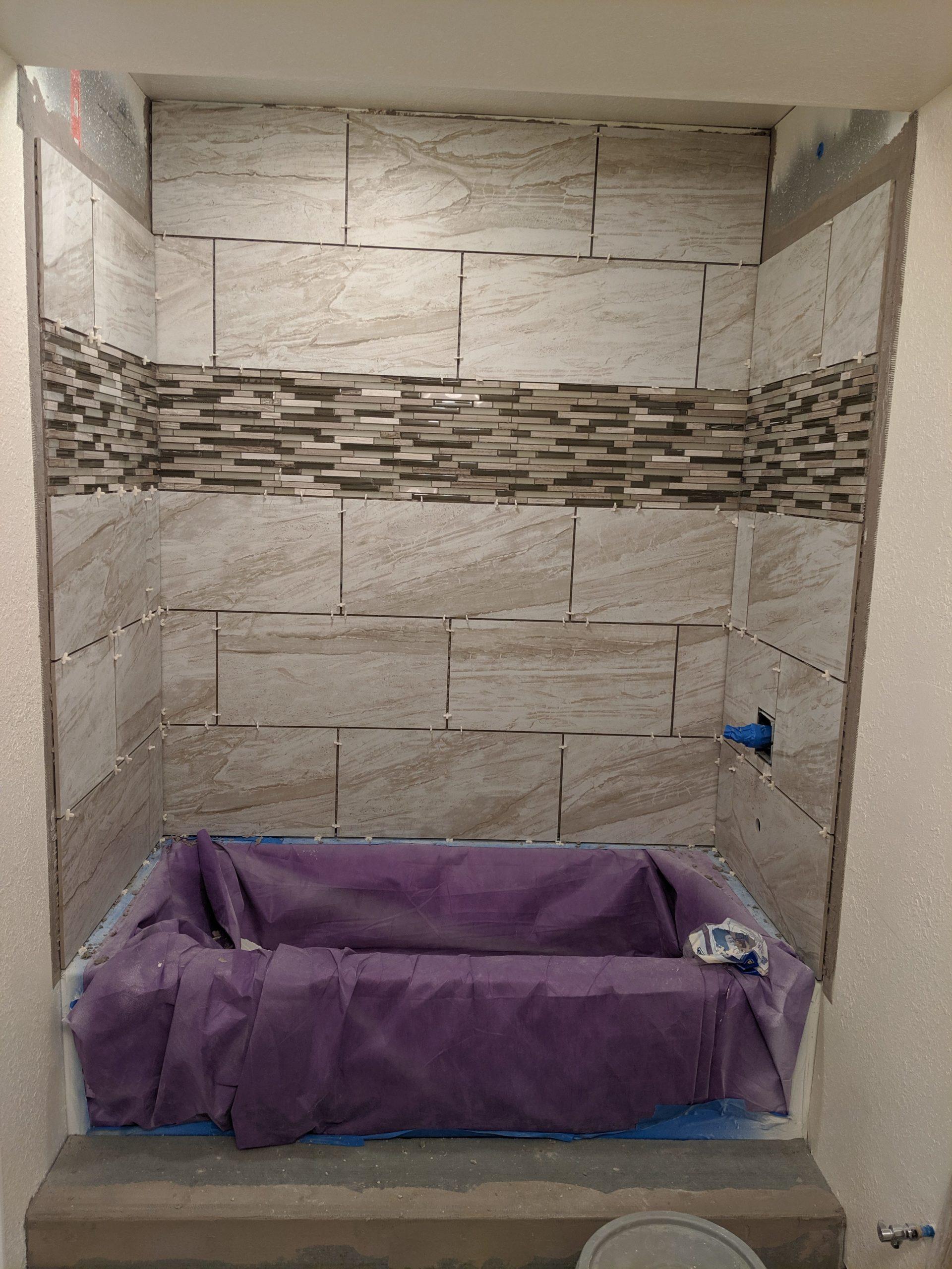 Installing Bath Tile